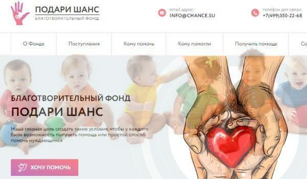 Благотворительный фонд «Подари шанс» и его деятельность