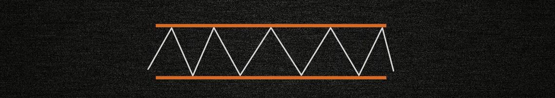 Рисунок - горизонтальная тенденция, флет, баланс теория Доу