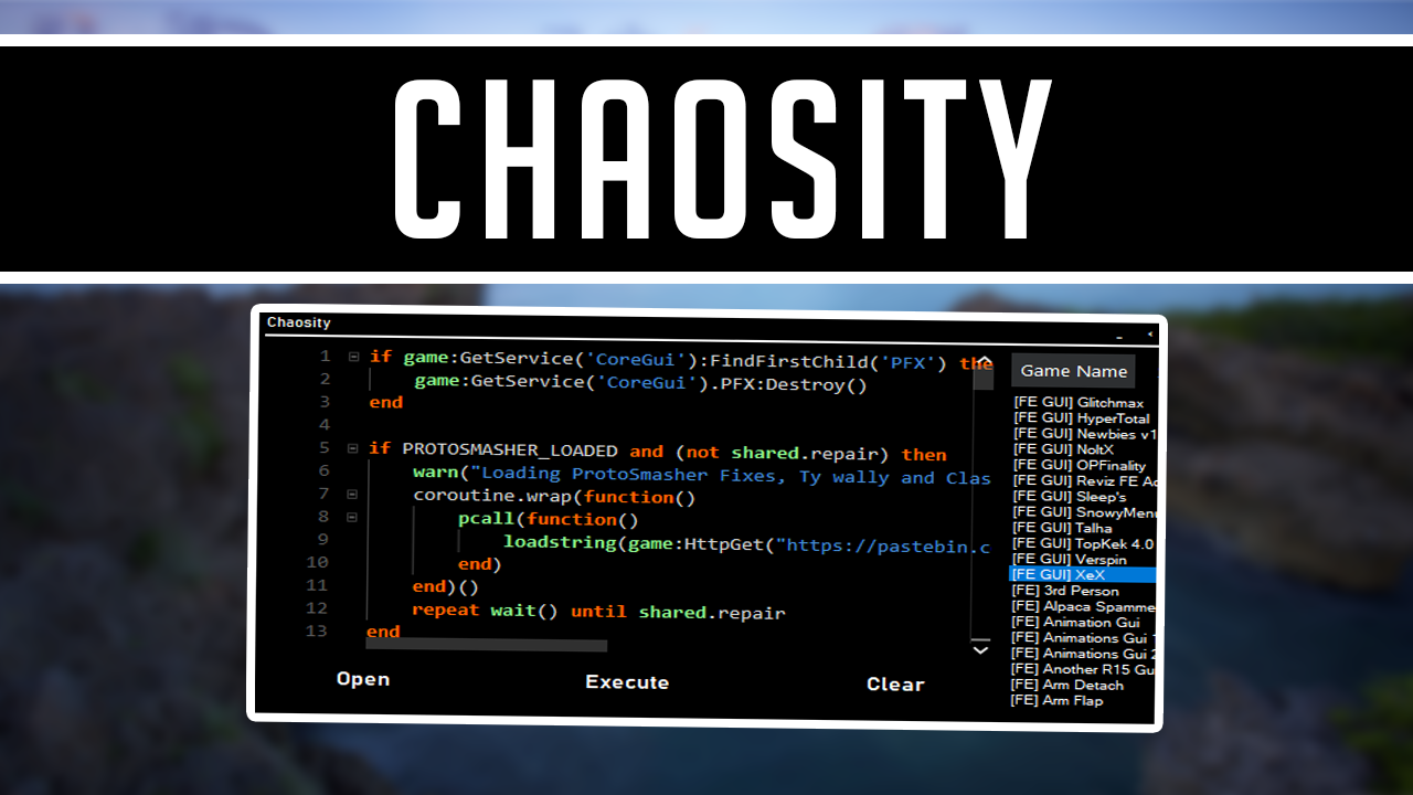 Roblox Chaosity Level 7 Script Executer/Injector Release