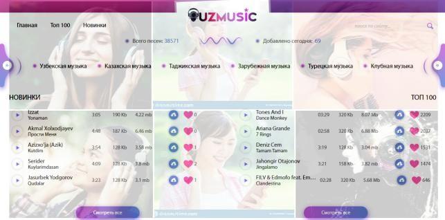 скачать музыка бесплатно mp3 uzmusic.tv/
