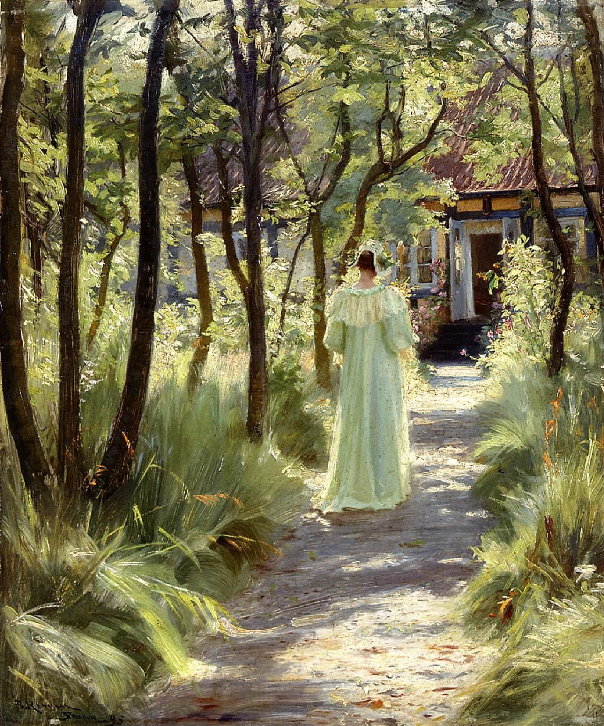 "Картинки по запросу ""peder severin krøyer marie in the garden"""