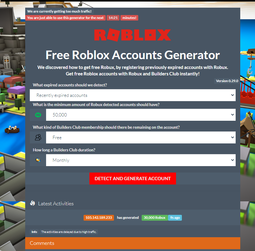 Free Roblox Accounts With Robux 2020 List Roblox Accounts And